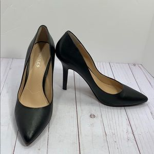 Charles by Charles David black leather heels